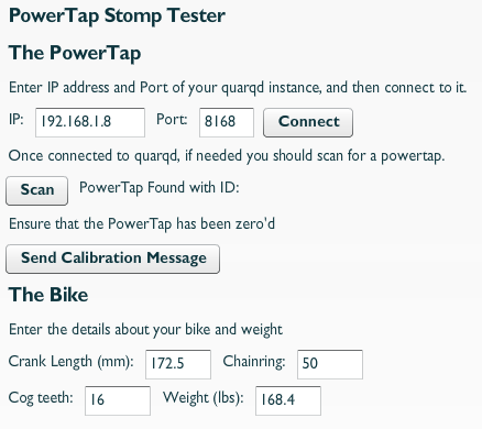 screenshot of stomper application