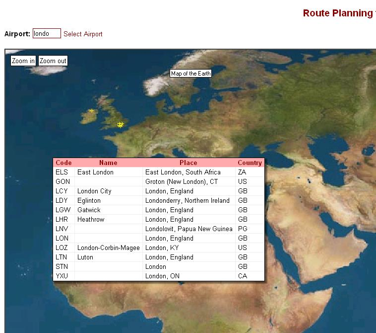 Screenshot of jibbering.com/routeplanner/ showing the application.